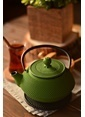 Bambum Taşev Linden - Sümbül 800 ml Fıstık Yeşil Döküm Çaydanlık Yeşil
